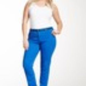 NYDJ Jade Legging Pants in Royal Blue 24W